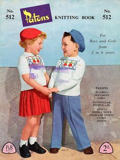 1950s Childrens Vintage Knitting Patterns  by BessieAndMaive, $6.00