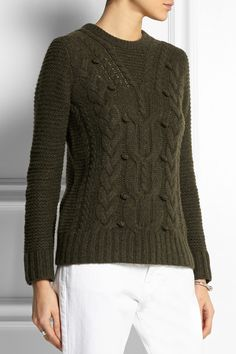J.Crew Collection cable-knit cashmere sweater