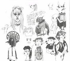 Sketchbook doodles by Marika Reis