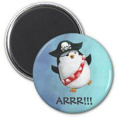 Cute Pirate Penguin Fridge Magnets