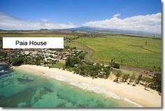 Paia Bay and Beach House Location. 10 Steps to the Beach
