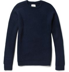 Saturdays Surf NYC Ribbed-Knit Wool Crew Neck Sweater