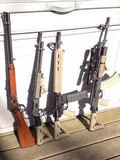 Mossberg shown next to a Winchester, Dissipator, and WASR AK all with FDE Magpul furniture. Guns And Ammo, Weapons Guns, Tactical Knives, Tactical Gear, Wusthof Knives, Firearms, Shotguns, Types Of Fire, Shotgun