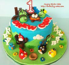 Angry Birds Cake - kid would love this!