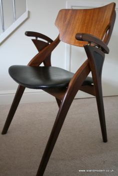 Unusual: Arne Hovmand Olsen Sculptural Danish Teak & Rosewood Desk/Side Chair 1950s/60s   eBay