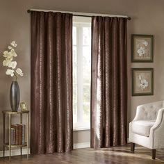 Madison Park Scarlett Diamond Pintuck Window Panel - Overstock™ Shopping - Great Deals on Madison Park Curtains