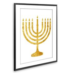 GOLD MENORAH PRINT - HANUKKAH PRINT - JEWISH WALL ART - ISRAEL HOME DECOR - JEWISH HOME DECOR - INSTANT DOWNLOAD - DOWNLOADABLE ART ••WHAT YOU WILL GET•• ▶Five High resolution (300DPI) JPEG files ▶Sizes: 4X6, 5X7, 8X10, 11X14 and 16x20 ▶Instant download your files directly from etsy, or from the download link that is sent via email. ▶The colors may vary depending on your screen and the printer.   PLEASE NOTE, THIS IS A DIGITAL DOWNLOAD ONLY. NO PRINTED MATERIALS OR FRAME ARE INCLUDED!  More…