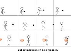 kid project flip book animation, easy - Google Search