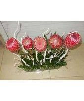 Premium Exclusives Arrangement of Protea Flowers  with Accessories . Delivery available for Kolkata Only.