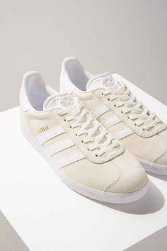 Adidas Gazelle sneaker in ivory; soooo happy to be able to get these