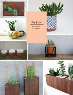 Poppytalk: Etsy Finds | 10 Cool Planters