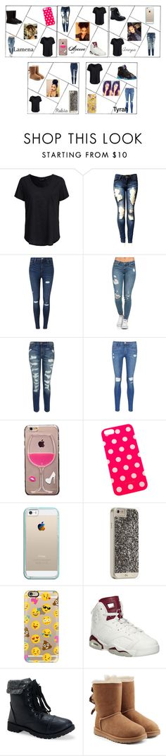"""LAART#2"" by aneysajslexander ❤ liked on Polyvore featuring New Look, Miss Selfridge, Current/Elliott, Frame Denim, Casetify, Case-Mate, Retrò, Aéropostale and UGG Australia"