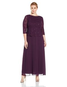 Trendy deep plum mother of the bride / Mother of the groom dresses for special occasion. Plus sizes dress
