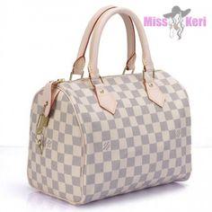 Купить сумку Louis Vuitton (луи виттон) Speedy Damier Azur 25, цена, интернет магазин в Украине и России