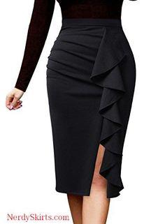 VFSHOW Women Elegant Ruched Ruffle Slit Work Business Party Pencil Skirt skirt skirt skirt skirt outfit skirt for teens midi skirt Pencil Skirt Dress, Pencil Skirt Work, Pencil Skirt Casual, Pencil Skirt Outfits, High Waisted Pencil Skirt, Casual Skirts, Dress Skirt, The Dress, Twirl Skirt