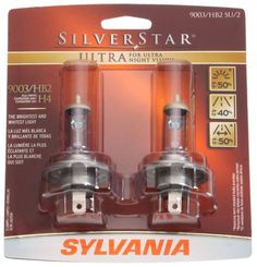 Sylvania 9003/HB2 SU/2 BP TWIN SilverStar Ultra Headlight - Pack of 2 $35.99