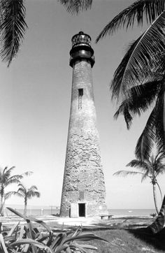 """Cape Florida Lighthouse sits on one of the """"Top 10 Beaches in America"""" at Bill Baggs Cape Florida State Park on Key Biscayne. (1970s) 