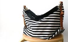 Etsy find of the day – canvas striped nappy bag