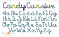 """Baby Kay's Appliques - Candy Cursive Font .5"""", 1"""", 1.5"""", 2"""", 2.5"""", 3"""", 3.5"""", 4"""" includes BX, $5.00 (http://www.babykaysappliques.com/candy-cursive-font-5-1-1-5-2-2-5-3-3-5-4-includes-bx/)"""