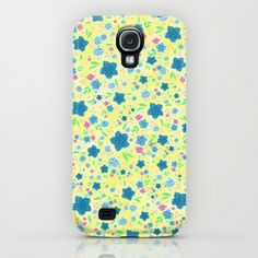 Forget Me Nots - Yellow  Samsung Galaxy S4 Case by Lisa Argyropoulos