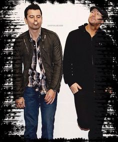 Jordan Knight and Donnie Wahlberg