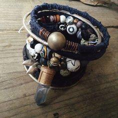 Gypsy bangles  Boho bangle stack  Tribal gypsy bangles  by quisnam