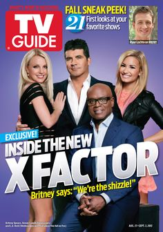 August 27, 2012. Britney Spears, Simon Cowell, L.A. Reid and Demi Lovato of The X Factor