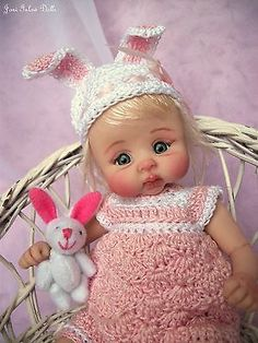 "❤OOAK HAND SCULPTED  BABY GIRL ""LIBBY""   BY: JONI INLOW* DOLLY-STREET❤"
