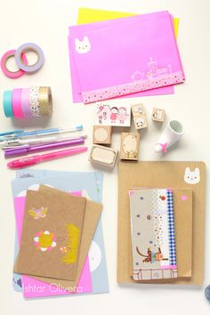 Washi Styling! - embellish cheap file folders with washi.