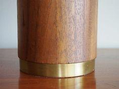 Tall Mid-Century Danish Modern Walnut Lamp