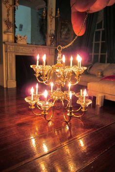 A Beautiful World & J. Getzan Dollhouse Miniatures Chandeliers Sconces Copperware ... azcodes.com