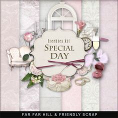 Beautiful Vintage free Kits and elements
