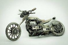 Motocicleta arte del metal scrap metal tecno recicla