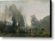 Morning At Ville Davray Canvas Print / Canvas Art By Jean Baptiste Camille Corot