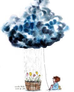 Pin by vesna vasiljević on manka kasha illustrations in 2019 Watercolor Illustration, Watercolor Art, Cute Illustration, Watercolor Flowers, Pretty Drawings, Art Pictures, Photos, Illustrations And Posters, Whimsical Art