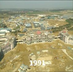 Building Euro Disneyland (now Disneyland Paris) - 1991