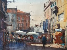 Watercolor painting by Eugen Chisnicean