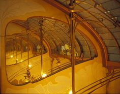 Victor Horta Museum (Tassel Hotel, Brussels) - Architectural organic shaped detail/