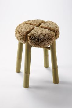 """Designer Johan Brunel_""""Hand in Hand"""" Hairy stool Seen at Dynamo, Designer's days, Pantin"""