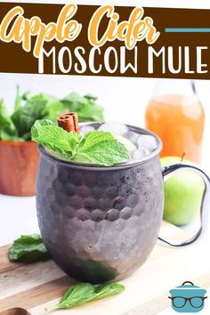 This Apple Cider Moscow Mule recipe is the fall drink! It is is like a spiked apple cider but with a cinnamon twist from Fireball Whisky. Salted Caramel Hot Chocolate, Chocolate Apples, Caramel Vodka, Apple Recipes, Fall Recipes, Drink Recipes, Sweet Recipes, Spiked Apple Cider, Cinnamon Twists