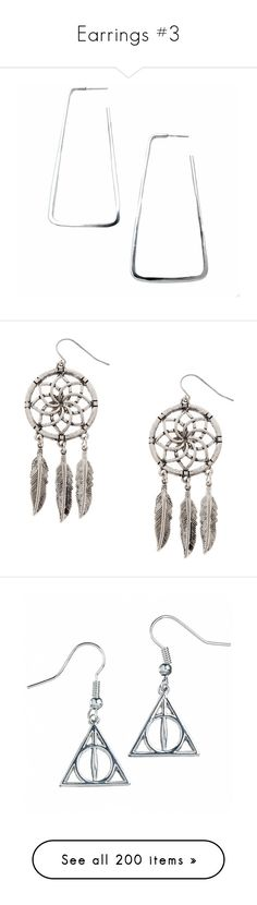"""Earrings #3"" by ultimateginger ❤ liked on Polyvore featuring jewelry, earrings, silver, handcrafted jewelry, handcrafted earrings, handcrafted jewellery, statement hoop earrings, earring jewelry, flower earrings and drop earrings"