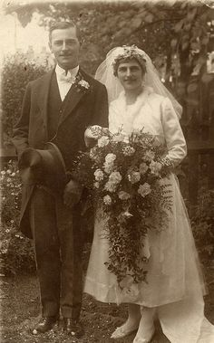 The wedding of Ethel and Charlie 1921 ....