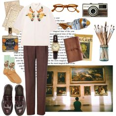 Art Student by olberg on Polyvore featuring мода, SUNO New York, Paul Smith, HOT SOX, Dr. Martens, Sekonda and Cultura