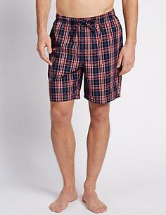 2 Pack Pure Cotton Assorted Pyjama Shorts