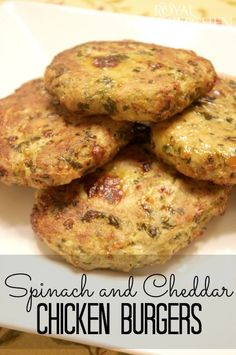 Spinach And Cheddar Chicken Burgers
