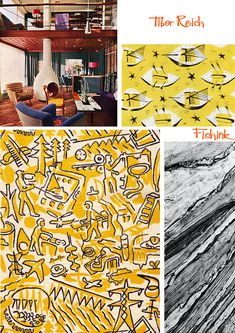 Tibor Reich The rebirth of his mid-century textiles Textile Artists, Mid Century Design, Textile Design, Stationery, Illustration, Fabric, Prints, Painting, Tela