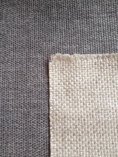 Fabric for Master Bedroom - darker grey weave fabric on Clive bed, lighter beige weave fabric on Lodi chairs.