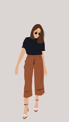 People Illustration, Portrait Illustration, Illustration Girl, Cartoon Girl Drawing, Girl Cartoon, Cartoon Art, Abstract Line Art, Feminist Art, Digital Art Girl
