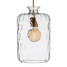 Pillar Clear Lamp with Brass Fitting
