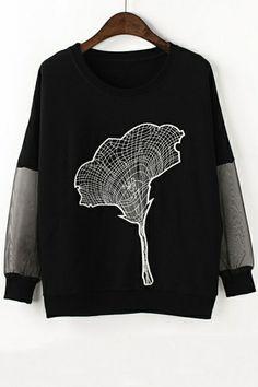 Petunia Embroidered Sweatshirt - OASAP.com
